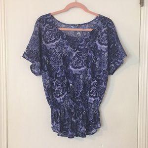 Izod paisley print blouse